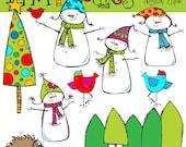 KPM Snowmen Family Digital Clip art