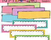 KPM Simple Page Headers digital clipart