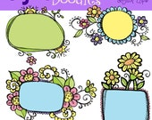 KPM Floral Frames digital clipart and stamps COMBO