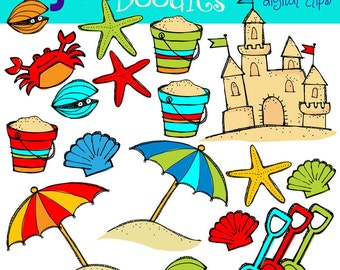 KPM Primary beach digital clip art