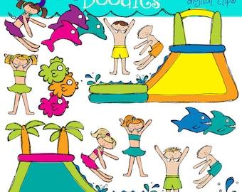KPM Water Slide Fun digital clip art