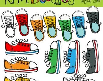 KPM Rainbow Sneakers  digital clipart