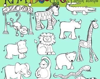 KPM Zoofari Digital black line stamp