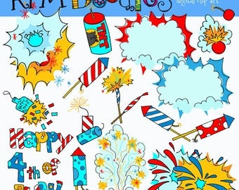 Rafa's Fourth of July digital clipart