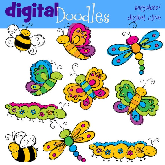 KPM Bugaloo Digital Clip art COMBO