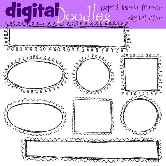 KPM Loopy and bumpy frames  digital stamps