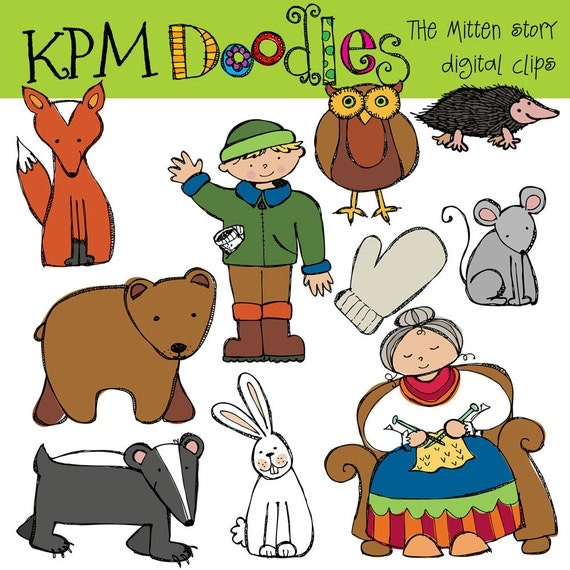 KPM The Mitten Story Digital Clip Art