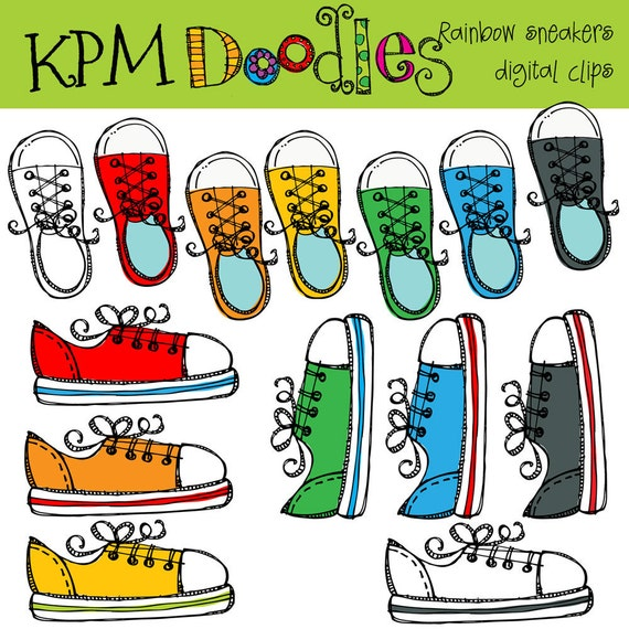 KPM Rainbow Sneakers  digital clipart