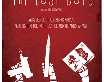 The Lost Boys - Minimal Style 12x16 Print - The Vampire Hunters Edition