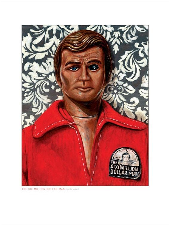 Six Million Dollar Man - 12x16 Print