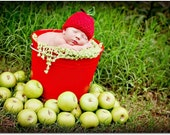Newborn Photo Prop Apple Hat