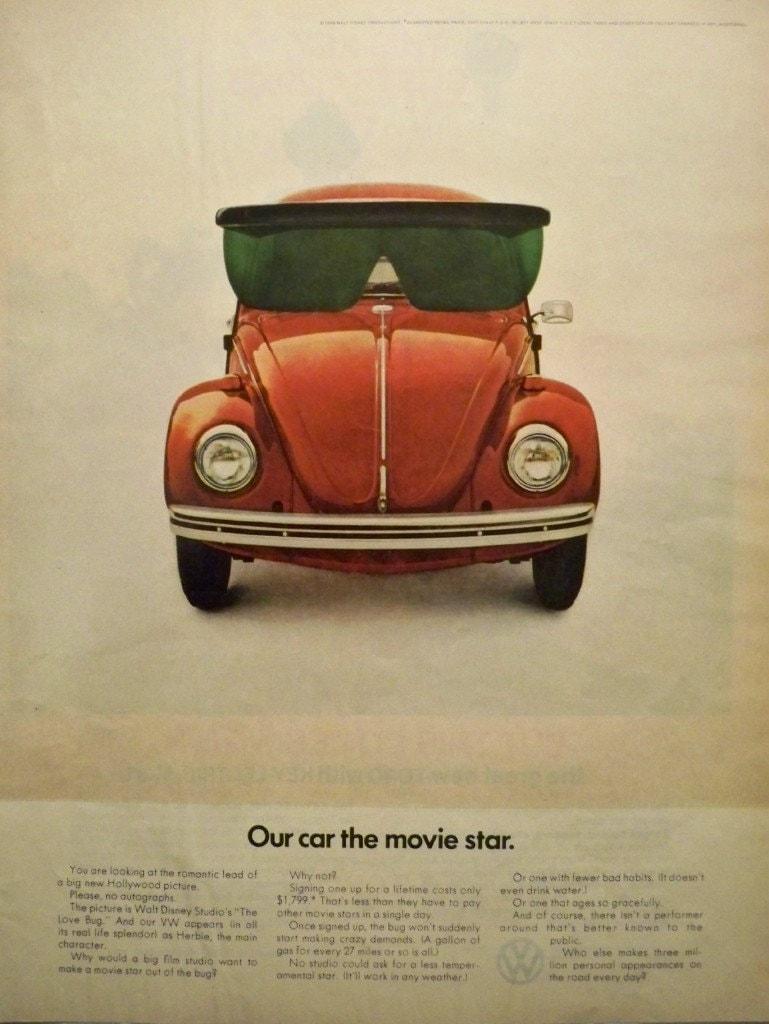 Vintage Volkswagen VW Bug Life Magazine Ad