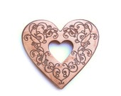Wooden teether wood heart teething for baby love