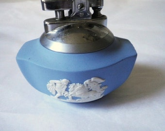 Blue Jasperware Wedgwood Lighter 1957