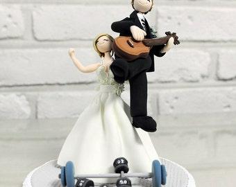 Fitness instructor,musician custom wedding cake topper decoration gift keepsake