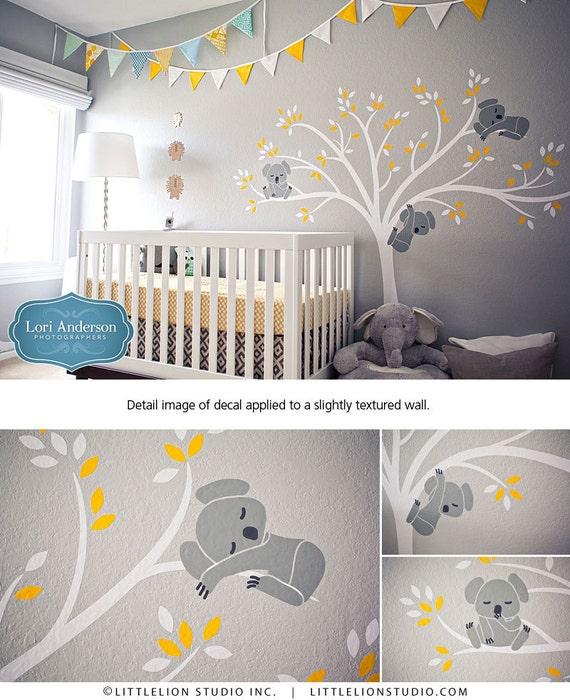 Wall decal modern koala cuteness as seen on by leolittlelion - Stickers elephant chambre bebe ...