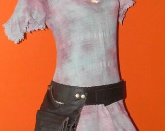 Hip Bag -Multipouch leather belt - Travel Leather Belt Bag