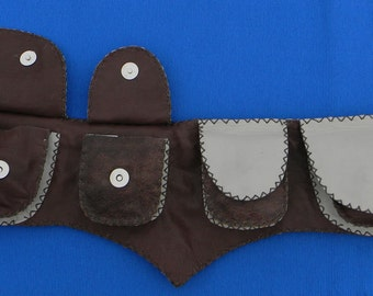 Pouch belt - Leather belt with pouch - Leather utility belt
