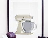 Kitchen Aid Mixer Poster Print A4 / 8x10 - Beige