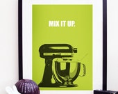 Kitchen Aid Mix It Up Poster Print A3 / 11x14 - Lime