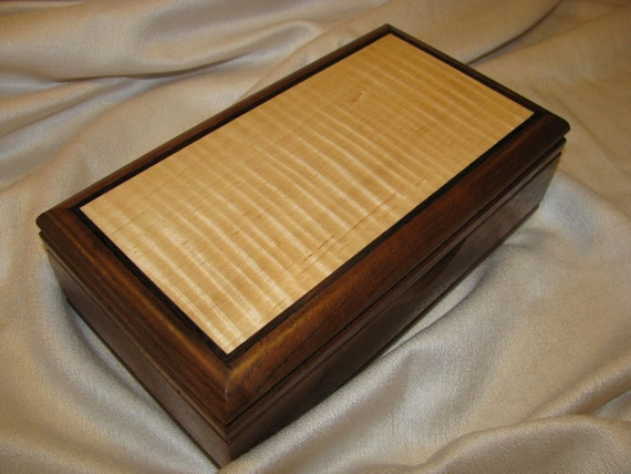 """5x9  maple top jewelry box """"number 59"""""""