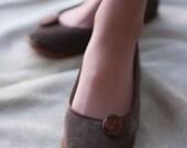 Modern Romance - Handmade Leather flat shoes - CUSTOM FIT