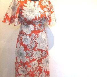 Sheer Hawaiian Dress / Island in Bloom