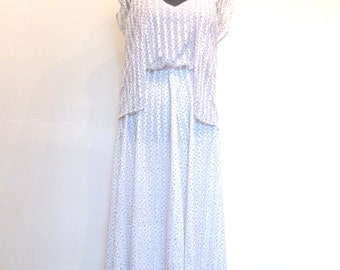 Sheer Ribbon Slip Dress with matching Shrug / Violet Fields Ribbon Dress