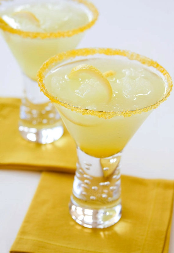 Flavored sugar - lemon drop cocktail rim sugar - martini recipes, directions included