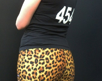 Leopard Print Roller Derby Shorts - in stock