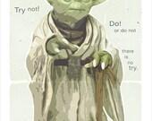Starwars poster - Star Wars Yoda Poster - Yoda Wisdom - 8x10, 11x14 or 16x20 print - Star Wars poster Starwars character print