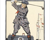 Golf poster - US Open Vintage print -  11x14 or 16x20  golf print