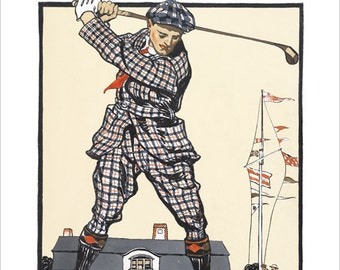 Golf poster - US Open Vintage print -  11x14 or 16x20  golf print