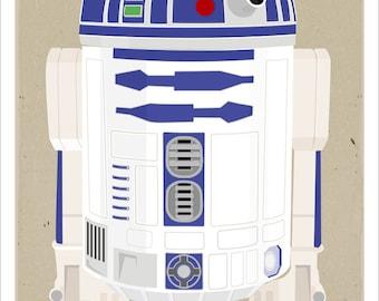 Star Wars poster r2d2 poster - 13x19 print - Starwars r2 d2 character print