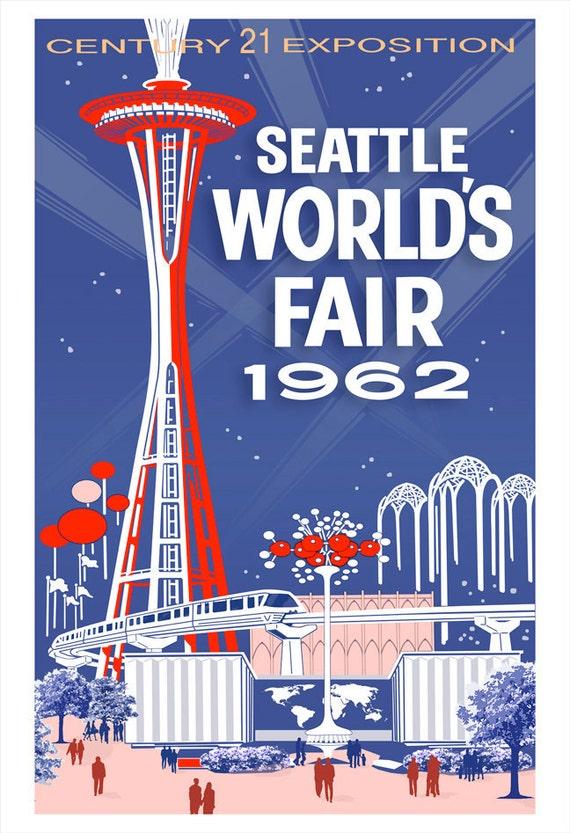 Seattle Art Print Worlds Fair Poster 13x19 Print By Aswegoarts