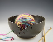 Made To Order-Matte Black Yarn Bowl