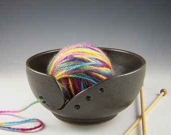 Matte Black Yarn Bowl