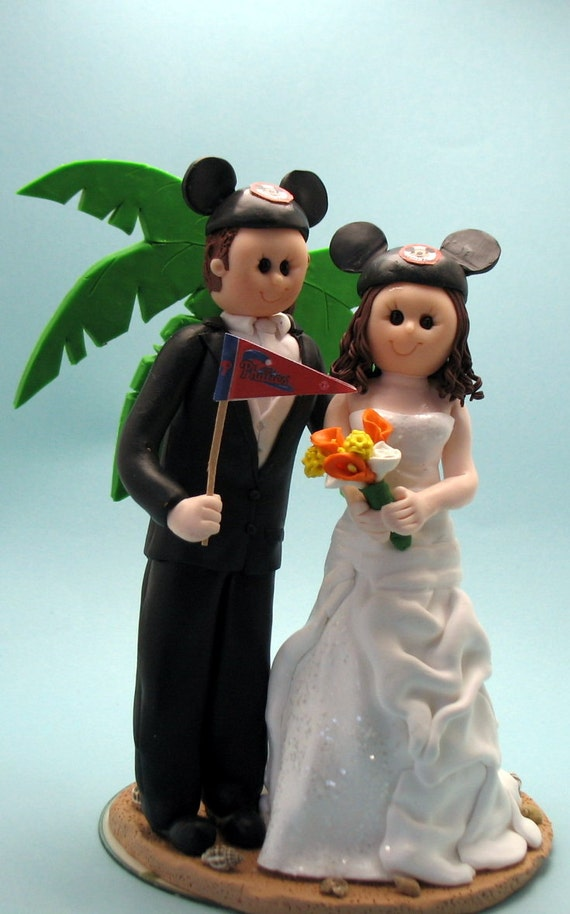 disney themed wedding cake toppers items similar to wedding cake topper disney theme custom 13573