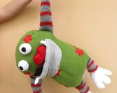Monster softie plush doll toy heart eater big mouth