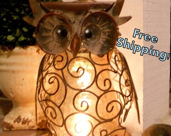 Wise and Wired Owl Lamp Night Light - Home Decor
