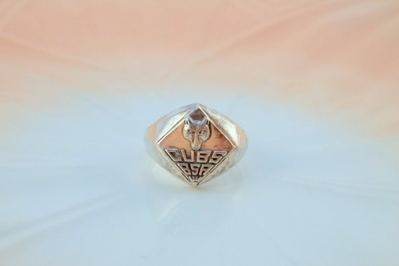 Vintage Sterling Silver Ring Cub Scouts Size 5
