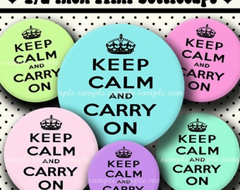 INSTANT DOWNLOAD Light Keep Calm (343) 4x6 Digital Collage Sheet 1/2 half inch ( 0.5 inch size ) for mini bottle cap images glass tiles ...