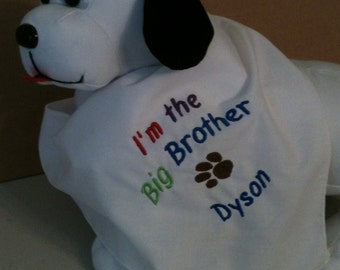 Dog Bandana, Big Brother or Sister w/Free Name