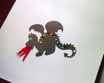 Dragon with sequin scales craft kit for kids