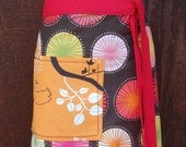 Half Apron, spirals, orange, brown, pink, yellow, lime, woman's or men's