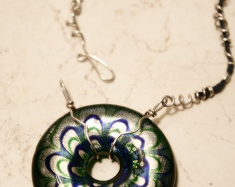 Necklace Sterling Silver Glass