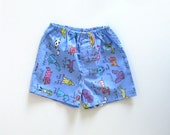 Baby Boy Summer Shorts- Dog Print Fabric