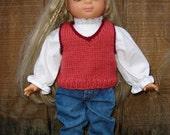 18 inch Doll Knitting Pattern V-Neck Vest fits American Girl PDF