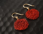 Errings GF14K Crochet Red d18mm  (Reserved for Tamera  to 25.09. 2011)