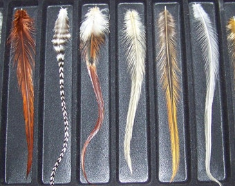 Choose 20 Feather Extensions and YOU CHOOSE COLORS Feather Sample Pack